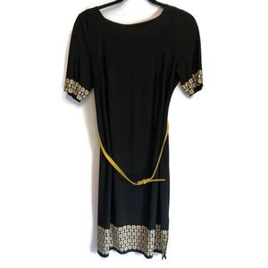 A Pea In The Pod Black and Yellow Maternity Dress